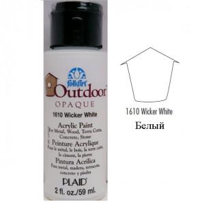 1610 Белый Наружного применения Акриловая краска FolkArt Plaid