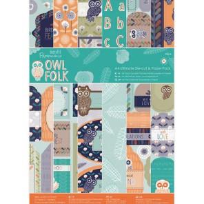 Owl Folk А4 Набор бумаги с высечкой для скрапбукинга, кардмейкинга Docrafts