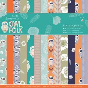 Owl Folk Набор бумаги для скрапбукинга, кардмейкинга Docrafts