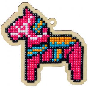 Игрушечная лошадка Алмазная мозаика подвеска Гранни Wood W0147