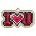 Я люблю тебя Алмазная мозаика подвеска Гранни Wood W0157