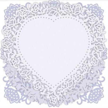 Кружевные мотивы French Lavender Набор высеченных элементов для скрапбукинга, кардмейкинга Docrafts