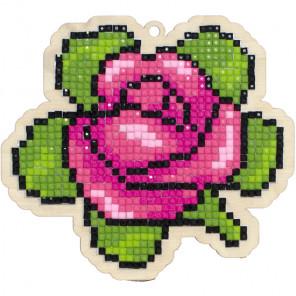 Внешний вид коробки Ароматная роза Алмазная мозаика подвеска Гранни Wood W0172
