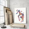 Пример в интерьере Гимнастка и бабочки 75х100 см Раскраска картина по номерам на холсте с неоновыми красками AAAA-RS123-75x100