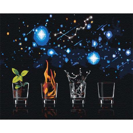 Четыре стихии 80х100 см Раскраска картина по номерам на холсте AAAA-RS105-80x100