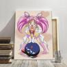 Пример в интерьере Сэйлормун малышка / Аниме Раскраска картина по номерам на холсте с неоновыми красками AAAA-RS122