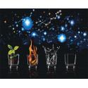 Четыре стихии Раскраска картина по номерам на холсте AAAA-RS105