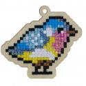 Птичка Алмазная мозаика подвеска Гранни Wood W0306