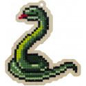 Змейка Алмазная мозаика подвеска Гранни Wood W0266