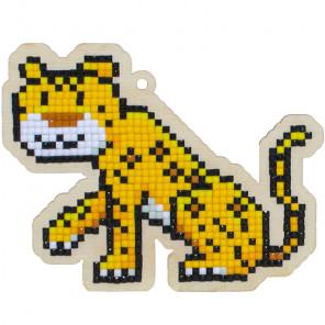 Леопард Алмазная мозаика подвеска Гранни Wood W0267