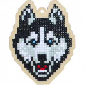 Хаски Алмазная мозаика подвеска Гранни Wood W0280