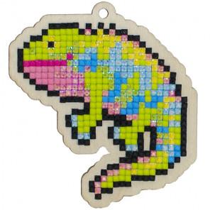 Игуана Алмазная мозаика подвеска Гранни Wood W0281