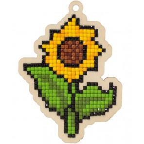 Солнечный цветок Алмазная мозаика подвеска Гранни Wood W0326