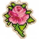 Бутон розы Алмазная мозаика подвеска Гранни Wood W0327