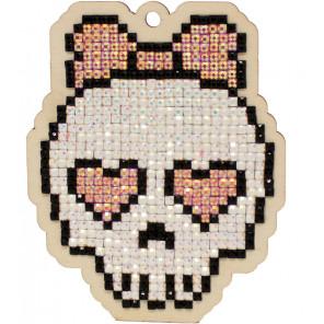 Милый Череп Алмазная мозаика подвеска Гранни Wood W0328