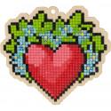 Сердце Алмазная мозаика подвеска Гранни Wood W0331
