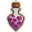 Любовное зелье Алмазная мозаика подвеска Гранни Wood W0333