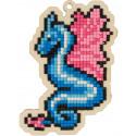 Морской дракон Алмазная мозаика подвеска Гранни Wood W0337