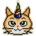 Праздничный кот Алмазная мозаика подвеска Гранни Wood W0362