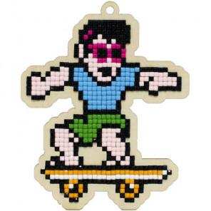 Скейтер Алмазная мозаика подвеска Гранни Wood W0369