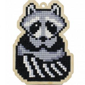 Енот Алмазная мозаика подвеска Гранни Wood W0399