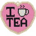 Люблю чай Алмазная мозаика подвеска Гранни Wood W0378