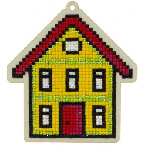 Уютный дом Алмазная мозаика подвеска Гранни Wood W0383