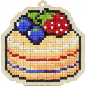 Тортик Алмазная мозаика подвеска Гранни Wood W0394