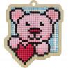 Влюбленный мишка Алмазная мозаика подвеска Гранни Wood W0435