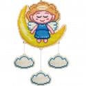 Хранитель снов Ангелочек Алмазная мозаика подвеска Гранни Wood W0445