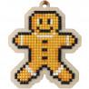 Пряничный человек Алмазная мозаика подвеска Гранни Wood W0447