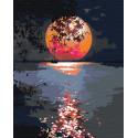 Лунная дорожка / Полная луна 100х125 см Раскраска картина по номерам на холсте с неоновыми красками AAAA-RS108-100x125