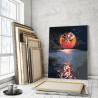 Пример в интерьере Лунная дорожка / Полная луна 100х125 см Раскраска картина по номерам на холсте с неоновыми красками AAAA-RS1