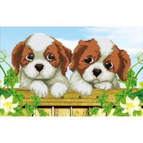 Милые щенки Алмазная частичная вышивка (мозаика) Color Kit
