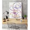 Пример в интерьере Гимнастка / Упражнение с лентой Раскраска картина по номерам на холсте с металлической краской AAAA-RS109