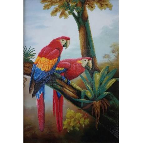 Цветные попугаи Алмазная частичная вышивка (мозаика) Color Kit