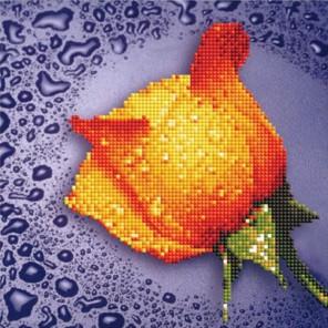 Желтая роза Алмазная частичная вышивка (мозаика) Color Kit