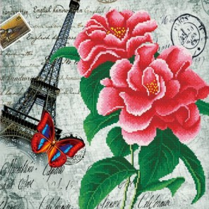 Эйфелева башня Алмазная частичная вышивка (мозаика) Color Kit