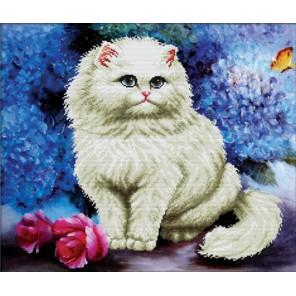 Милая кошечка Алмазная частичная вышивка (мозаика) Color Kit