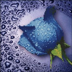 Синяя роза Алмазная частичная вышивка (мозаика) Color Kit