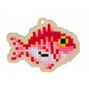 Рыба фугу Алмазная мозаика подвеска Гранни Wood W0270