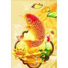 Золотая рыбка Алмазная частичная вышивка (мозаика) Color Kit