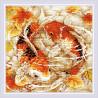 Пример оформления в рамку Карпы Алмазная вышивка мозаика Риолис АМ0055