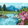 Реки и горы Раскраска картина по номерам на холсте GX39208