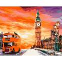 Путешествие в Лондон Раскраска картина по номерам на холсте GX39203