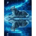 Волки в ночи Раскраска картина по номерам на холсте GX39197