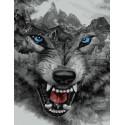 Ярость волка Раскраска картина по номерам на холсте GX39189