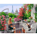 Утро в Париже Раскраска картина по номерам на холсте GX39108