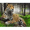 Задумчивость хищника Раскраска картина по номерам на холсте GX39045