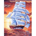 Белые паруса Раскраска картина по номерам на холсте GX39043